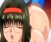 Sweet anime cutie machine fucked as sex slave
