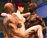 Toon Sex Palace – 3D interracial cuckold gangbang