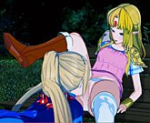 Zelda and Samus Eat Each Other Out